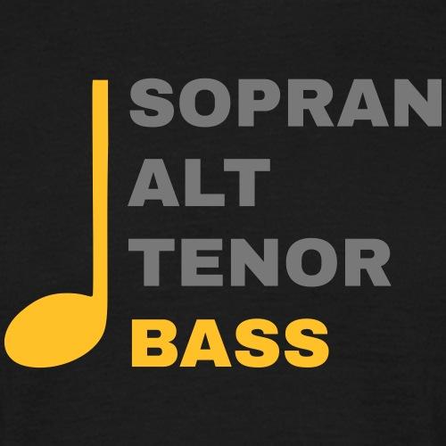 SATB mit Note - Bass