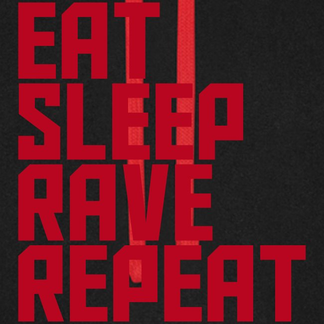 Eat Sleep Rave Repeat Collection Unisex Baseball Hoodie