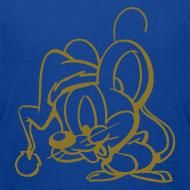 Motiv ~ Maus (gold) - Kinder T Shirt klassisch
