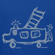 Motiv ~ Feuerwehr (silber) - Kinder T Shirt klassisch