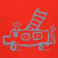 Motiv ~ Feuerwehr (silber) - Kinder Kapuzenpullover