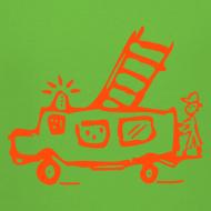 Motiv ~ Feuerwehr (neonorange) - Kinder Kapuzenpullover