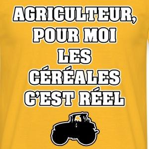 AGRICULTEUR, POUR MOI LES CÉRÉALES C'EST RÉEL