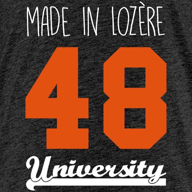 fdb9cfcd53c30 Tee shirt Enfant ado Made in Lozère - Orange   White