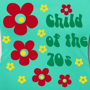 Verde esmeralda Child of the 70s Camisetas - Camiseta con escote redondo mujer
