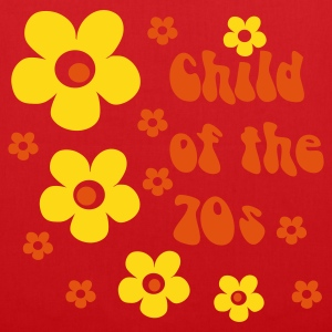 Rojo Child of the 70s Mochilas - Bolsa de tela