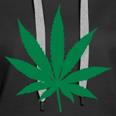 Black Cannabis Leaf Hoodies & Sweatshirts