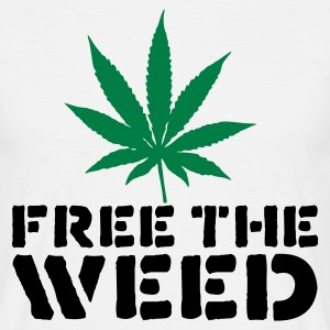 White Free The Weed Men's T-Shirts - Men's T-Shirt