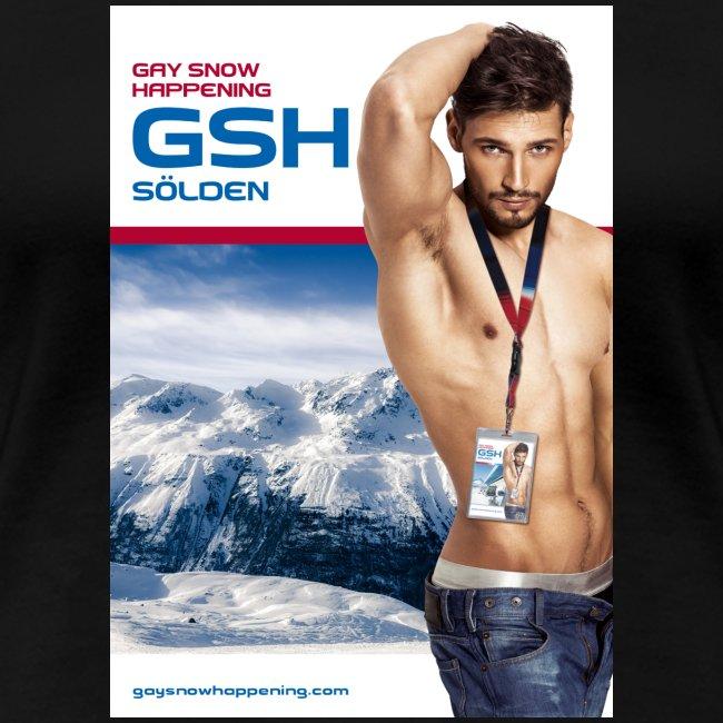 Frauen Premium T-Shirt Skifahrer vorne
