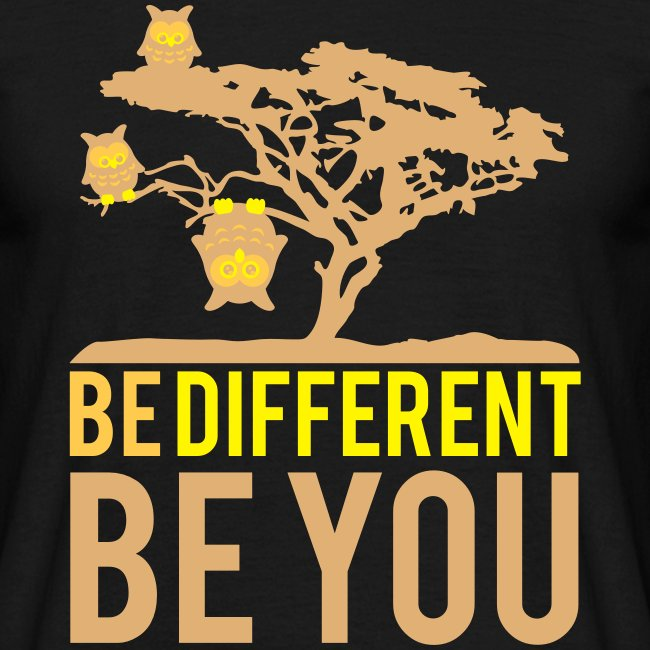 Be Different T-Shirt Men black