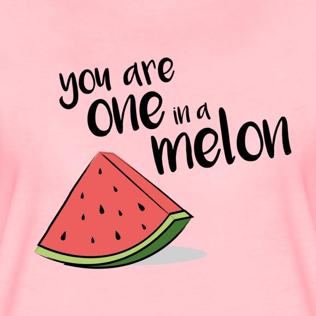 One In A Melon Women T-Shirt pink