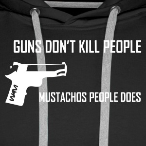 Svart guns don't kill people by wam Gensere - Premium hettegenser for menn