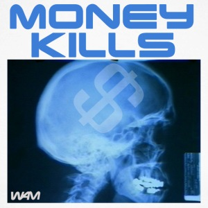 Hvit/svart money kills by wam Skjorter med lange armer - Langermet baseball-skjorte for menn