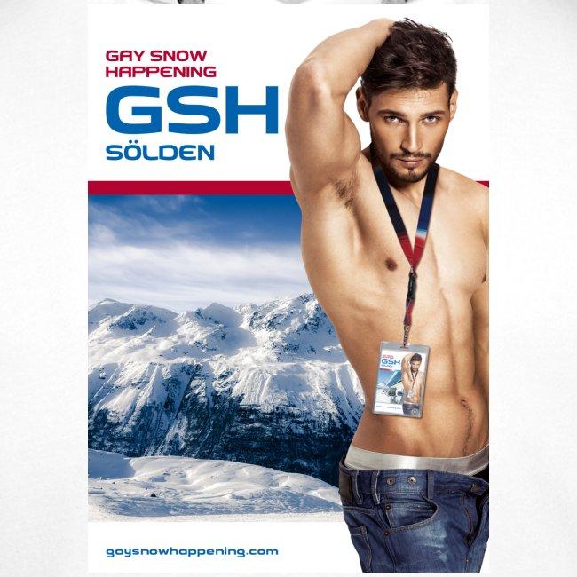 Männer Premium Hoodie Skifahrer vorne