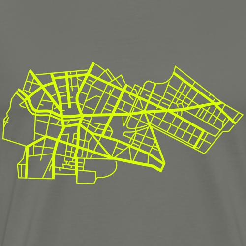 Kreuzberg Berlin Stadtplan neongelb