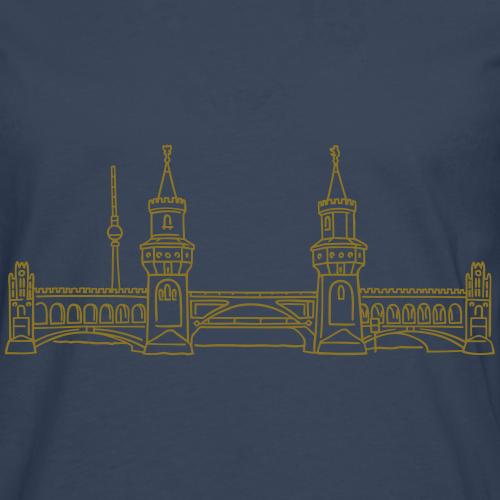 Oberbaumbrücke gold-metallic Friedrichshain-Kreuzberg berlin-t-shirt