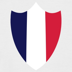 Sand/sort France, Shield Flag T-shirts - Kortærmet herre-baseballshirt