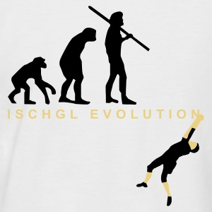 Evolution Bergsteiger - Männer Baseball-T-Shirt