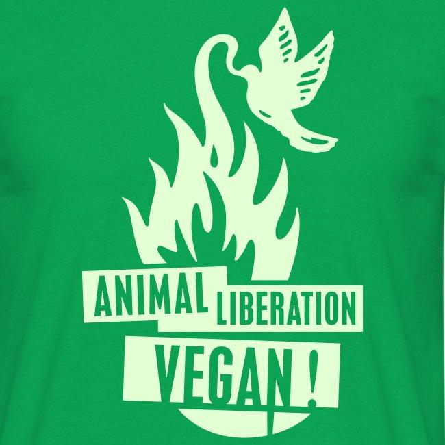 Mens 'ALV + vegan', beidseitig GLOW