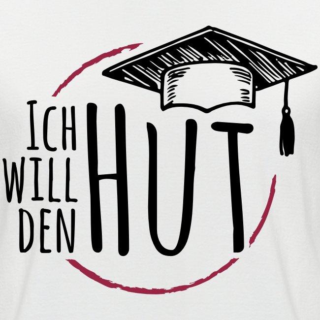 """""""Ich will den Hut"""", Männer T-Shirt, Raglanärmel"""