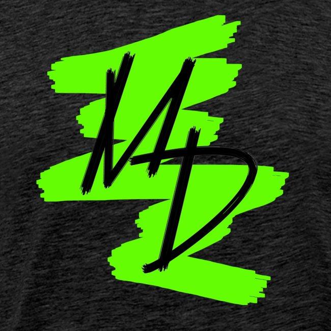 Camiseta premium logo MD original en color verde (Hombre)