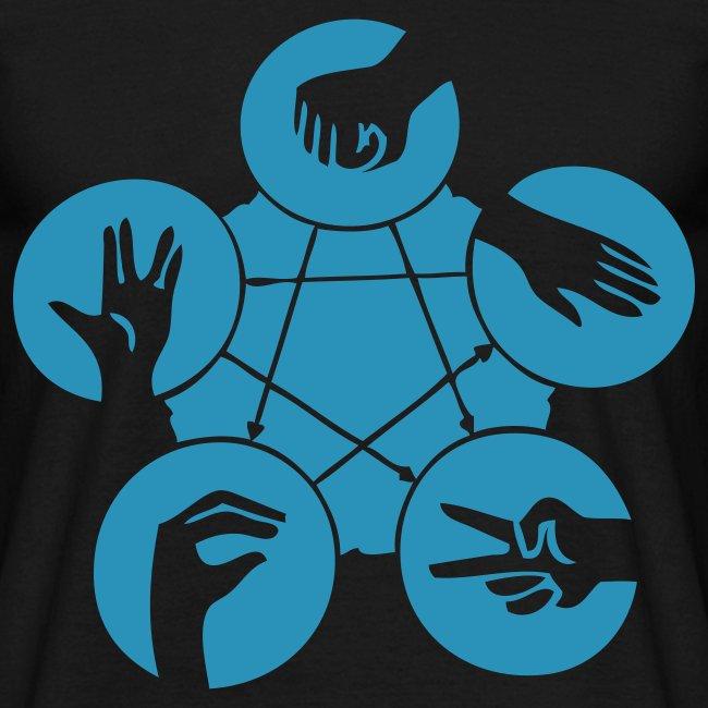 Camiseta piedra papel tijera lizard spock serie Big Bang Theory