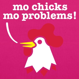 Schwarz more chicks more problems - hen night -  Taschen - Bio-Stoffbeutel