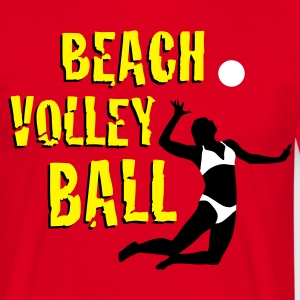 beachvolleyball_woman_b_3c T-shirts - Herre-T-shirt
