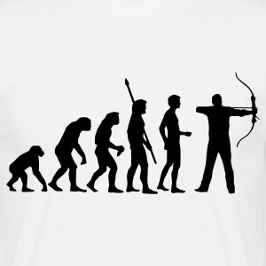 evolution_bogenschiessen T-shirts - Herre-T-shirt