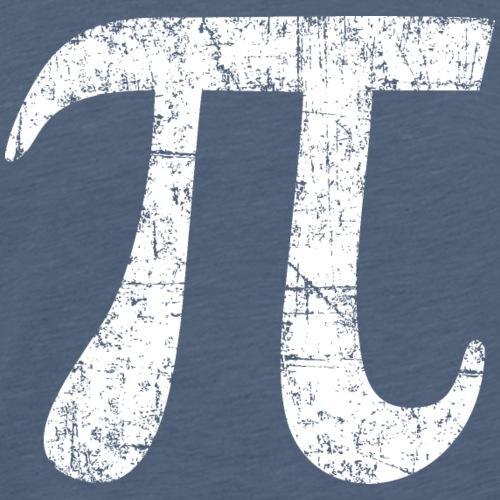 Buchstabe Zahl Pi (Patina Weiß)
