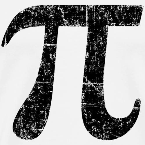 Buchstabe Zahl Pi (Patina Schwarz)