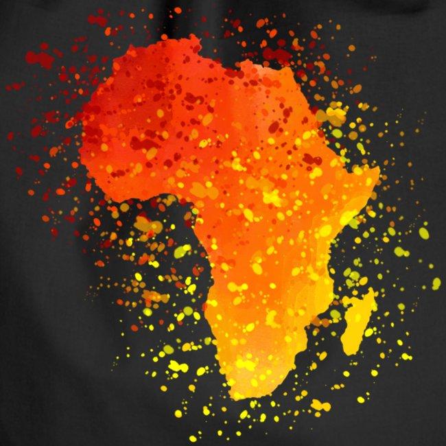 Beutel Afrika Karte