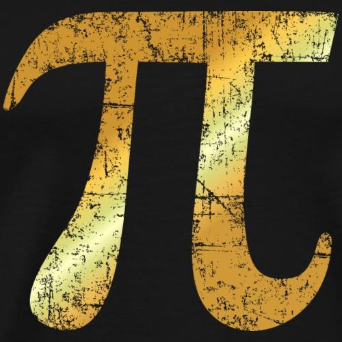 Buchstabe Zahl Pi (Patina Gold)