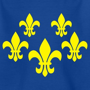 Royalblau Fleur de lis - eushirt.com Kinder T-Shirts - Teenager T-Shirt