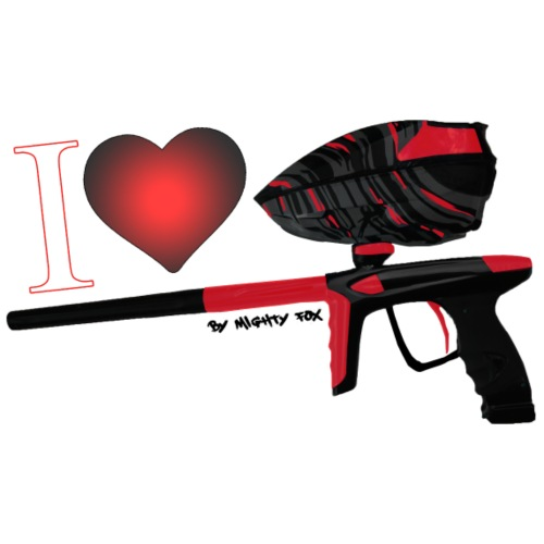 I Love Paintball Red