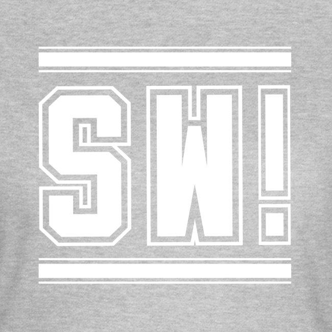 "SUPER WANG! T-Shirt für Frauen, weißes Logo ""SW!"""