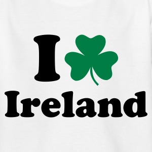 Weiß Ireland - Irland Kinder T-Shirts - Teenager T-Shirt