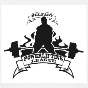 White Belfast Powerlifting League Men's T-Shirts - Men's T-Shirt