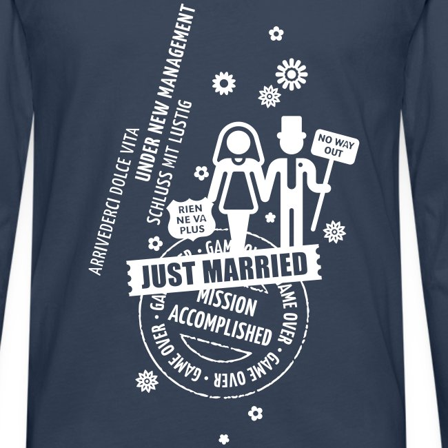 Langarmshirt Hochzeit Just Married