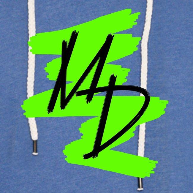 Sudadera unisex con logo MD original en verde