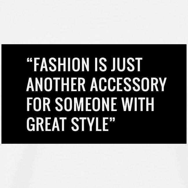"t-shirt ""What's fashion"""