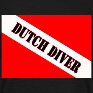 Dutch Diver Duikvlag - Mannen T-shirt
