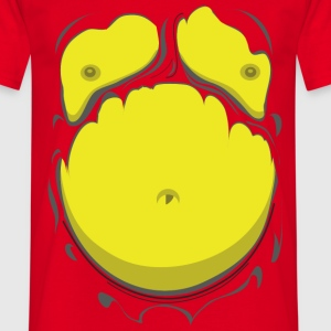 Comic Fat Belly Yellow, beer gut, beer belly, ches - Men's T-Shirt
