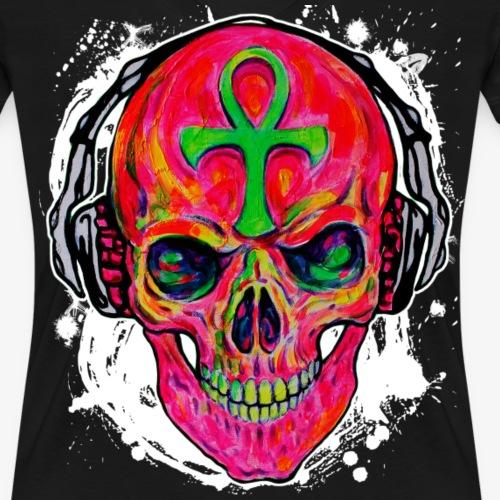 Cool DJ Music Skull pink 02 Zombi