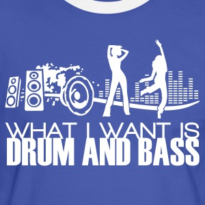 what i want is drum and bass blue - Männer Kontrast-T-Shirt