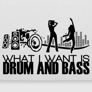 what i want is drum and bass white bag - Stoffbeutel