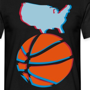 3d t-shirt basket ball USA ANAGLYPH - Men's T-Shirt