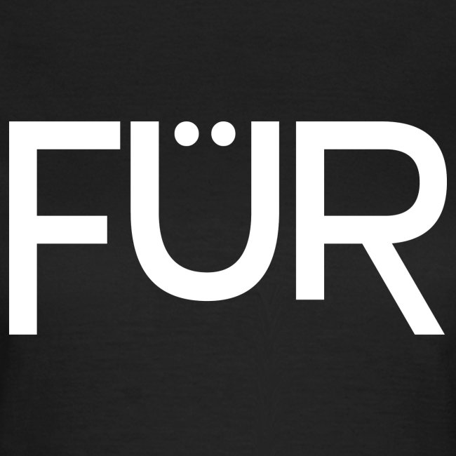 FÜR Magazine Women's T-Shirt White On Black