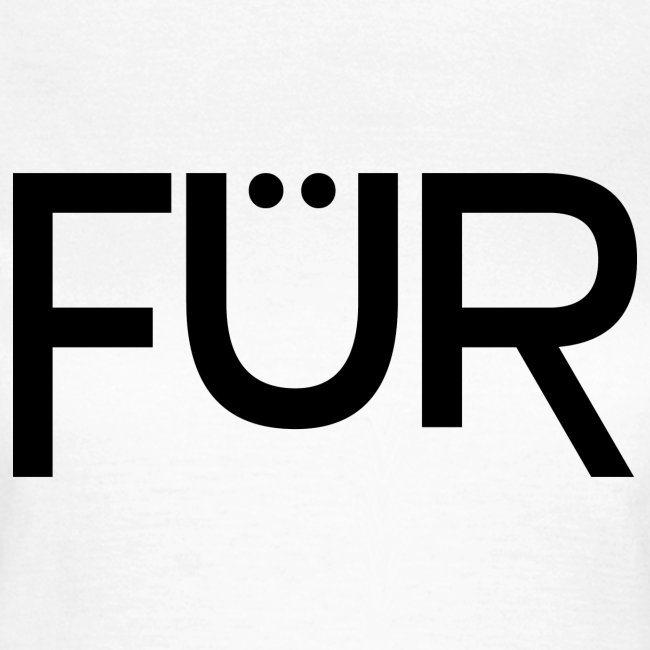 FÜR Magazine Women's T-Shirt Black On White