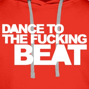 Rouge Dance To The Beat Sweatshirts - Sweat-shirt à capuche Premium pour hommes